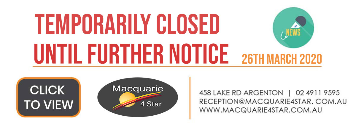 Macquarie 4 Star Message To Guests 26-07-2020